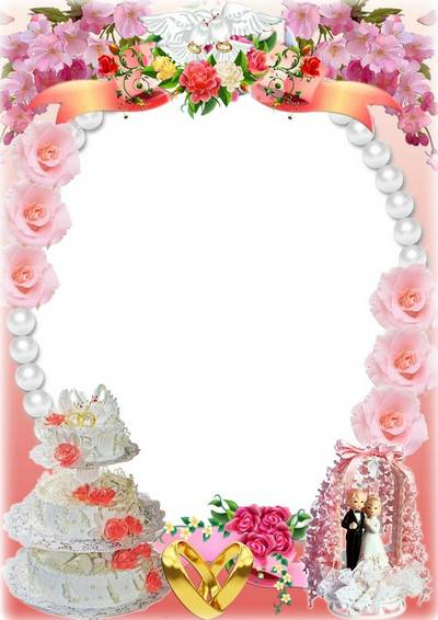 Romantic wedding photo frame - Happy Together