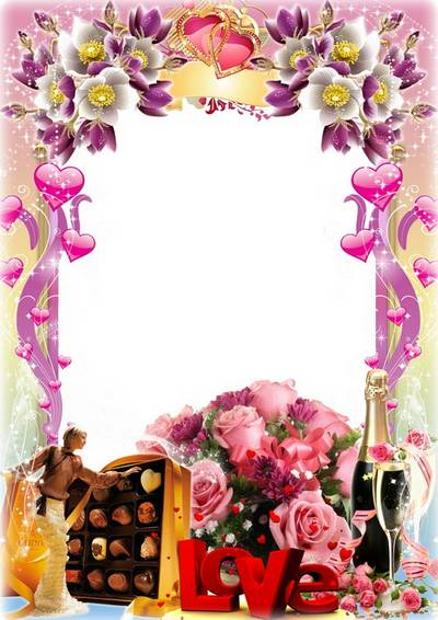 Romantic frame for photo - Heart full of romance