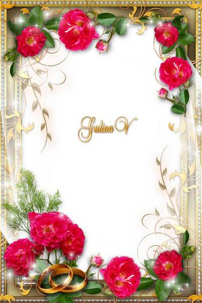 Wedding Frame PNG & PSD template - Happiness To Be Together