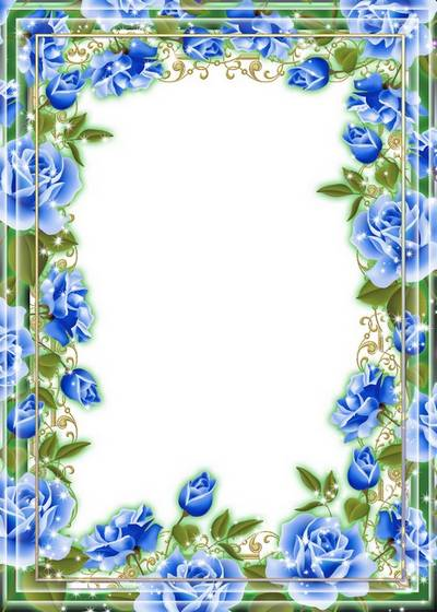 Flower frame for photo - Roses of different colors