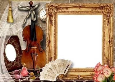 Glamour framework for a Photo - The Violin