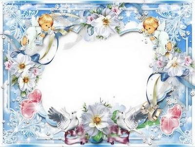 2 Psd Wedding frames - a Heart to bride its present
