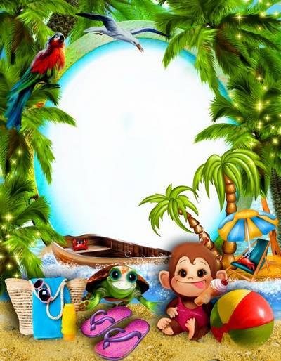 Summer children Frames - Holidays, sea, summer, beach!