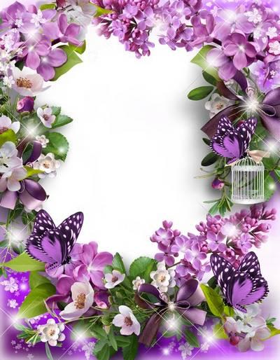 Flower Picture Frame- Spring color