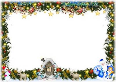 Festive Christmas group photo frame - Matinee in kindergarten
