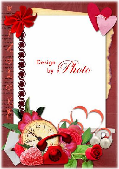 PSD Frame template for clearance of pictures - love