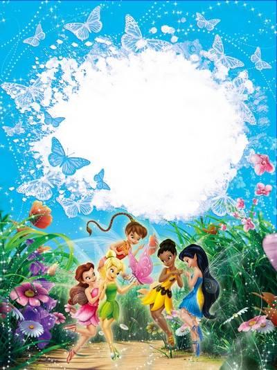 Frame for girls - Lovely fairies