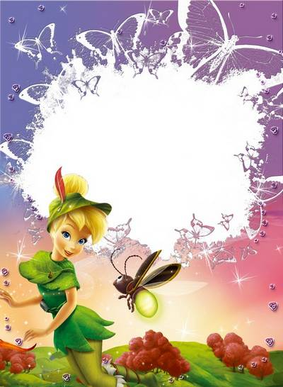 Frame for girls with a fairy free download - Little Tinker Bell