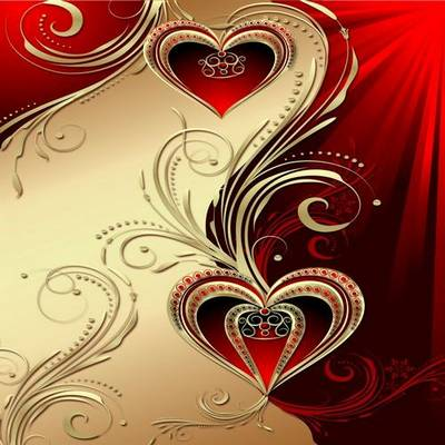 Red Hearts Multilayer PSD backgrounds - 3