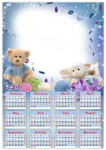 Download Pack Children calendars png 2016
