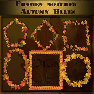Download Autumn 8 PNG Frames notches