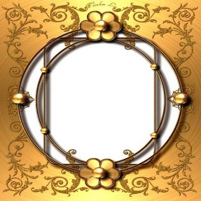 6 Decorative frames png in gold style
