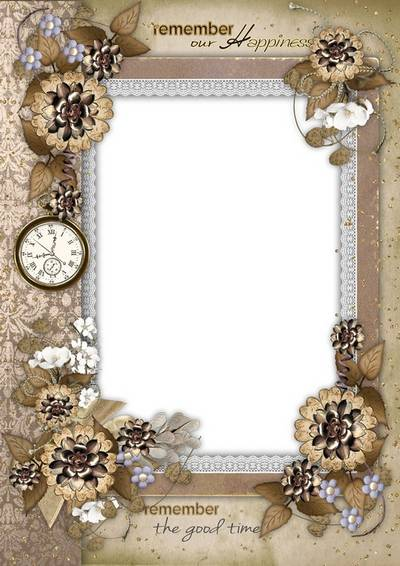 Vintage frame - Photo as a keepsake