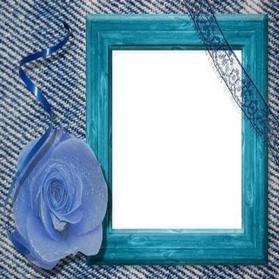 PSD Frame for photo - Denim