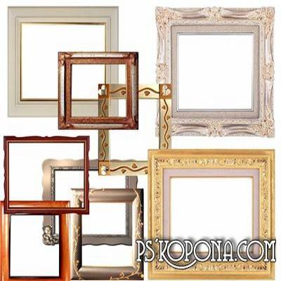 Download Classic frames png files for Photoshop