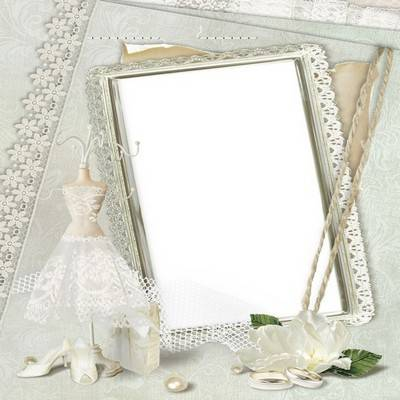 Two romantic wedding frame - Moments of happiness