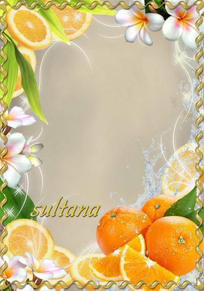 Two fruit-frame for Photoshop - Apple and orange