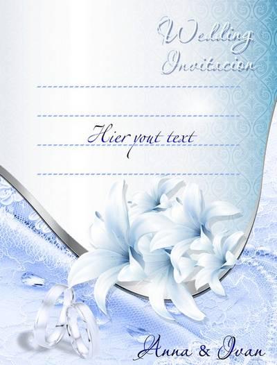 Wedding layered PSD source-Invitation to the wedding