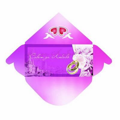 Wedding set - champagne  label +  envelope