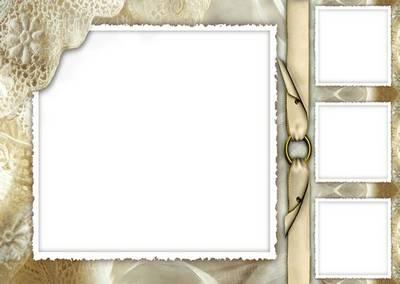 Retro frame Photoshop Collage psd file - photo frame psd in retro style