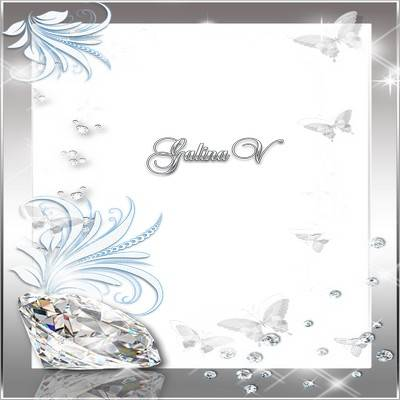 Glamour Photoframe - Brilliants Are The Best Friends For Girls