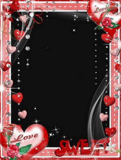 Photoshop Love frame psd format free layer file