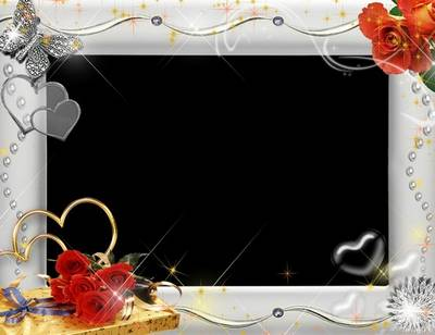 Love Photoshop Frame Template In Psd Format With Hearts And