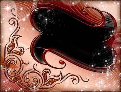 Red psd Frame for Adobe Photoshop - flame of passion