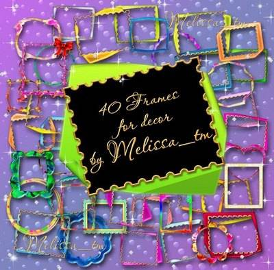 Set of 40 Frames psd for Decor free download