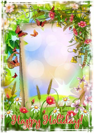 Download beautiful Photoshop Frame March 8 with flowers