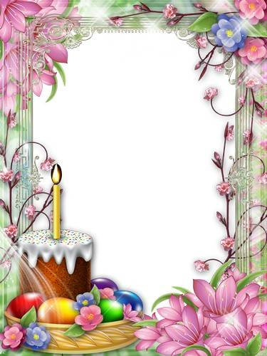 Easter frames  25 PNG - Let the day of the Holy Resurrection will bring good news