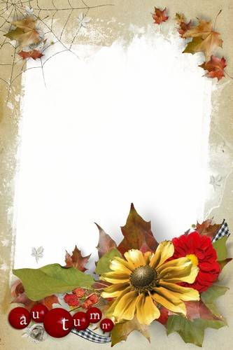 Set of frames for photo - Variety autumn