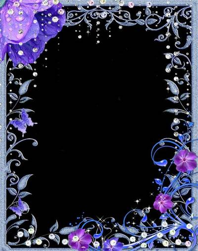 Download Photo Frame psd temlate with flowers bells