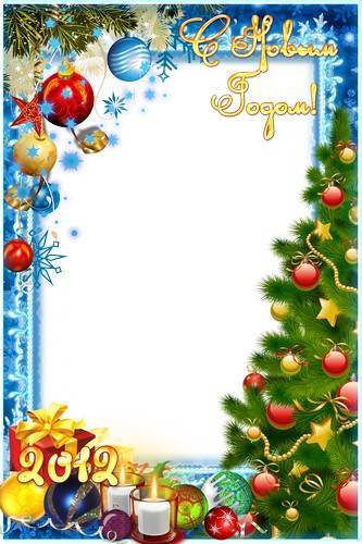 Collection of winter holiday frames for photos