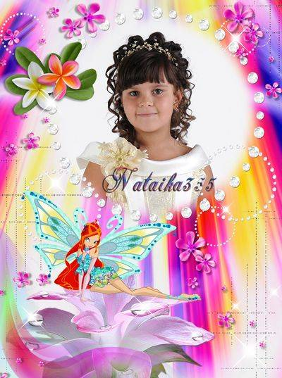 Children Frame for Photoshop PNG + PSD - My girlfriend Winx fairies