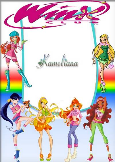 """Children's frame with princesses of the MF """"Winx""""-2 """"Winx"""" -2"""