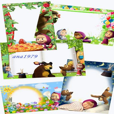 Collection of childrens frames - Masha and the Bear