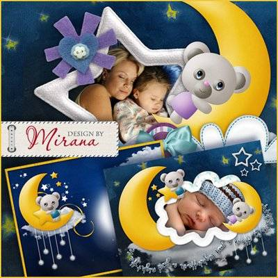 Charming collection of children's picture frames - Good night, my baby