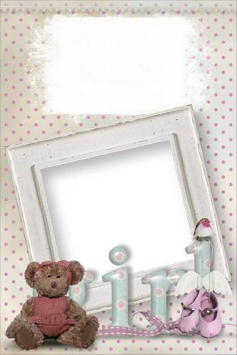 Collection of children's frames - Bundle of joy, part II (for girl)