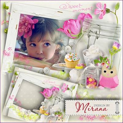 Children's frame free download - Sweet moment