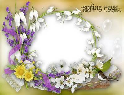 Frame for Photoshop - Spring eggs