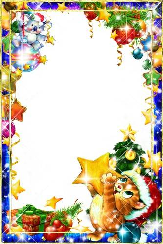Collection of children's photo frames - It's time to decorate the Christmas tree