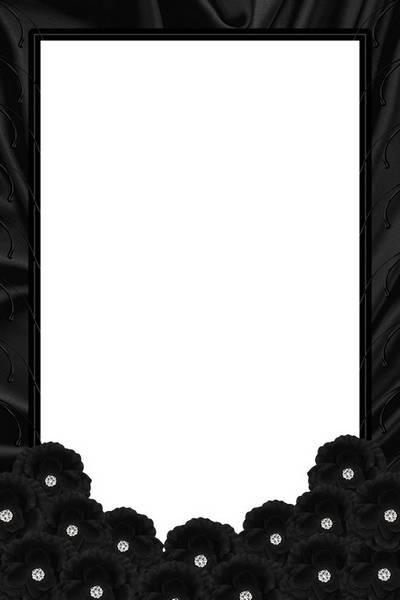 Frame - Black Roses