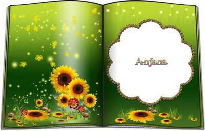 Frame - Rose Book & Sunflower Book