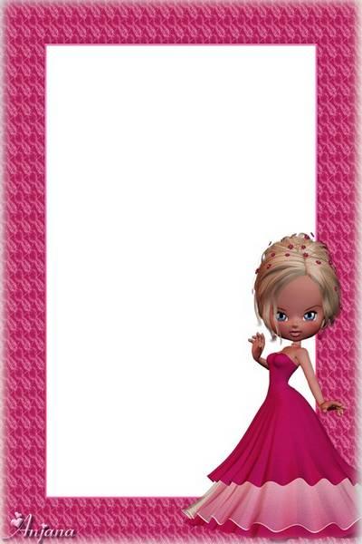 A set of frames for children - Pink