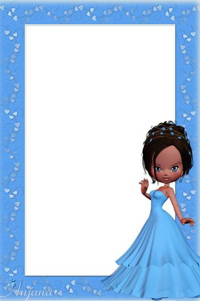 A set of frames for children - Blue