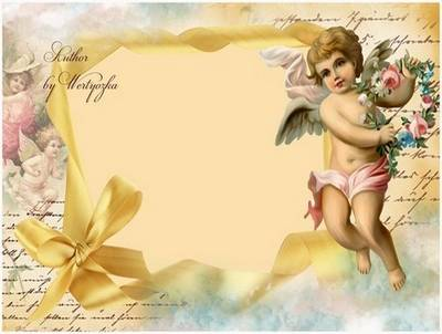 Vintage photo frame - My angel