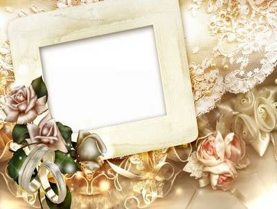 Wedding PSD frame template - vintage love