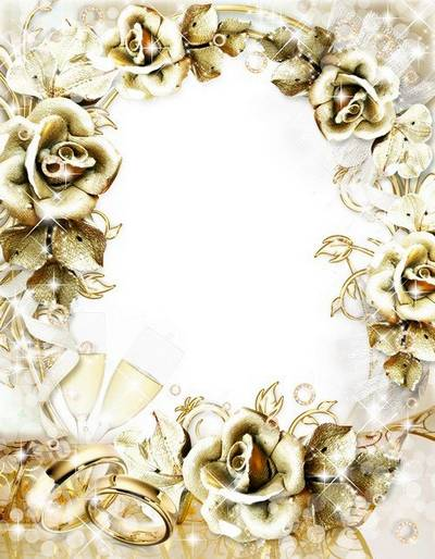 Gold wedding Photoframe- Love and Happiness