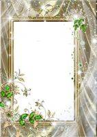 Gold Frame for photoshop - My Holiday